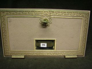 Large Vintage Solid Brass Po Box Door W/number & Key photo