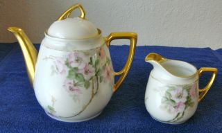Antique Porcelain Tea Set Kpm Germany photo