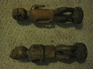 Carved Wooden Figures Of Unknown Origin photo