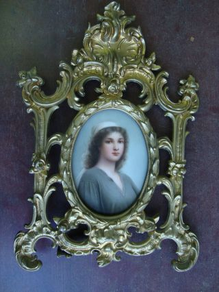 Antique Kpm Germany Porcelain Plaque photo