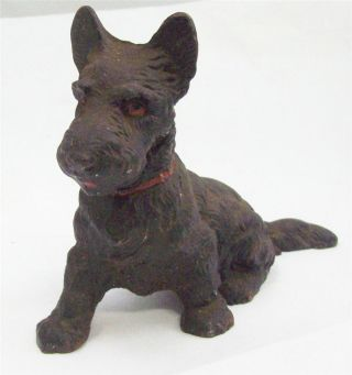 Antique Hubley Cast Iron Metal Scottie Scottish Terrier Doorstop 5