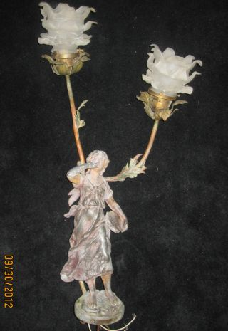Antique French Figural Lamp