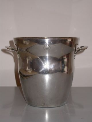 Art Deco Wmf Silver Plated Champagne Cooler With Monogramm 1920/30 photo