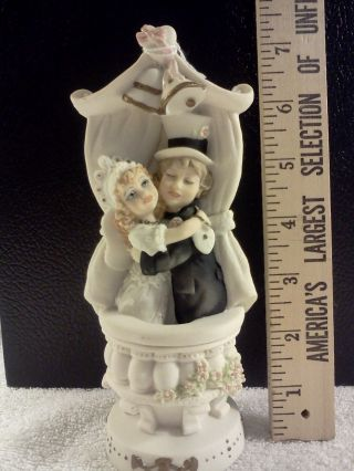 Hand Crafted Italian Porcelain Figurine By Norman Wilton,  Ltd.  Capodimonte Style photo