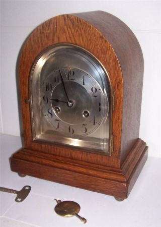 Junghans Mantel Clock 1910 12 Inches photo