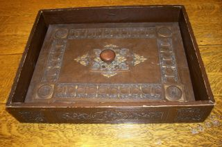 Vintage Decorative Leather - Look Lided Wooden Box photo
