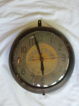 Vintage Royal Crown Rc Cola Electric Clock By General Electric photo