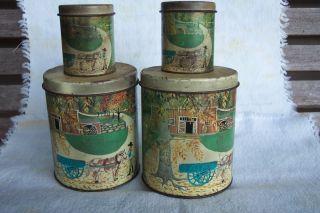 Set Of 4 Vintage Meister Tins photo