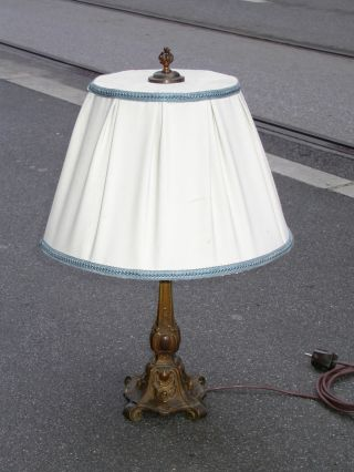 Victorian Bronze Lamp Patina 1880 H Approx 30 Inches photo