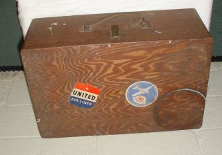 Antique / Vintage Wooden Luggage Box From Appomattox,  Va - 21
