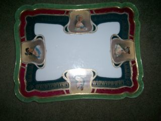 Antique Tray Hand Painted,  Early 1900,  Absolutely photo