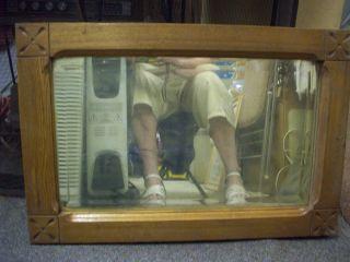 Antique Eastlake Oak Framed Mirror Or Picture 16 X 24 X 1 1/2