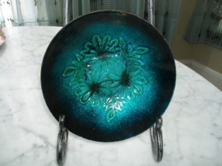 Lang Blue & Green Enamel On Copper Bowl photo