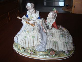 Dresden Lace Porcelain Figurine - German Made photo