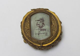 Antique Jewelery Box With The Image Of Franz Joseph I Of Austria. photo