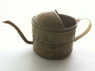 Vintage Watering Can - Great For African Violets - Rich Aged Patina photo