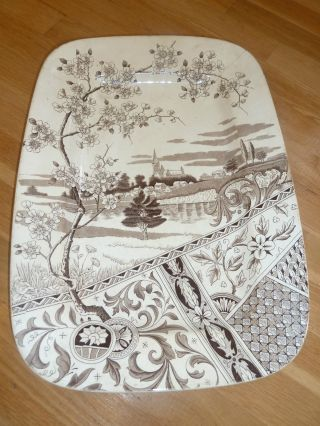 Antique Yosemite T&r Boote Large Transferware Platter Aesthetic England 1880 ' S photo