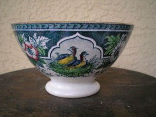 P & V France Pheasant Game Birds Transferware Bowl photo