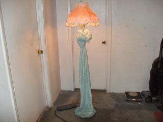 Antique Victorian Lamp - From:the Art Noveau - Era photo