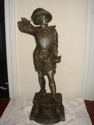 Large French Don Juan Spelter Statue photo