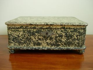 Early Painted,  Hand Dovetailed Box photo