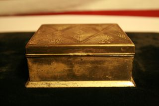 Very Old Looking Vintage Silver Box - Wood Lined photo