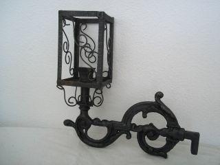 Antique 1800 ' S Cast - Iron Lamp,  100% photo