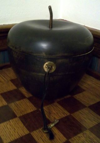 Old Wooden Apple Tea Caddy With Keys And Working Lock photo