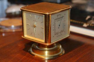 Vintage Seth Thomas Brass Desk Clock - Signed Swiss 167 photo