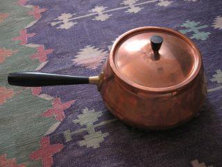 Rare Old Antique Vintage Switzerland Spring Copper Pot W/handle photo