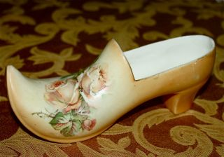 Antique Collectable Ceramic Large Shoe Circa 1920 photo