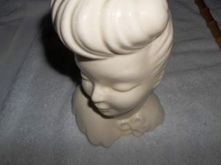 Porcelain Woman Head Vase Unique Stamped Usa photo