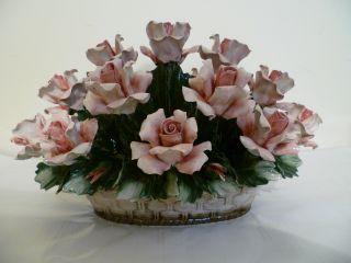 Capodimonte Fine - Bone China Decorative Hand Painted Vase photo