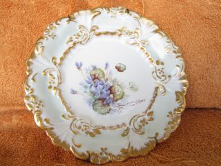 Antique Bavarian Germany Porcelain Plate. photo