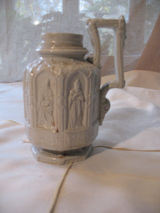 English Salt Glaze Mug In The Gothic Taste photo