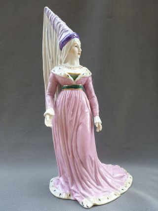 Antique Porcelain Medieval Queen Dresden Kister Half Doll Figure Figurine photo