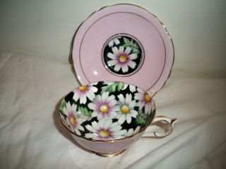Paragon Cup & Saucer.  Pink W/ Flowers.  Estate Find photo