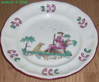 Longchamp French Faience Plate Marked. photo