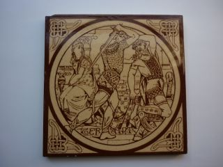Victorian Mintons Tile From Idylls Of King By Moyr Smith photo