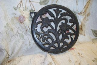 Antique Cast Iron Stove/ Vent Grate? - - 1880 ' S Signed - Great Deisgns photo