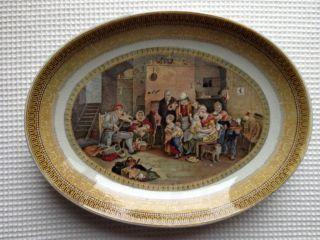 Antique Fenton 123 Pratt Platter The Blind Fiddler Sir David Wilkie Damaged photo