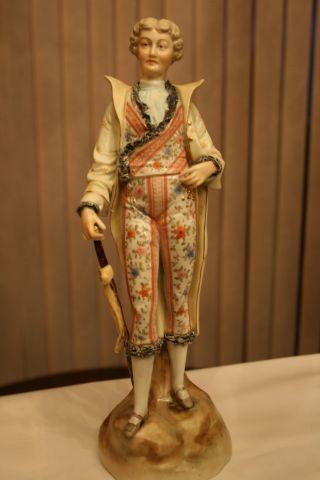 Wonderful Antique Porcelain Colonial Figurine,  & Lace Decoration. photo