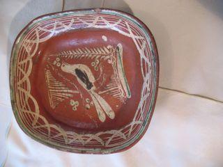 Redware Folk Art Bowl photo