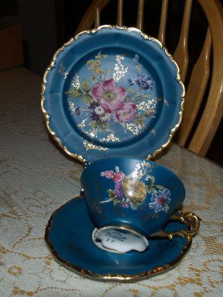 Tea Cup - Saucer - Plate - Waldershof Bavaria German Porcelain 22kt - Stunning photo