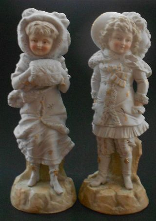 2 Parian Bisque Figurine 14