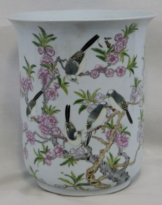 Chinese Porcelain Planter With Hand Painted Dis.  From 1950 ' S photo