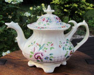 Flamboyant Dragon Head Coalport Teapot - Hand Painted - England - C.  1830 - 1840 photo