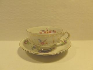 Rieber Bavaria Germany Porcelain Tea Cup And Saucer - Espresso Cup - U.  S.  Zone photo