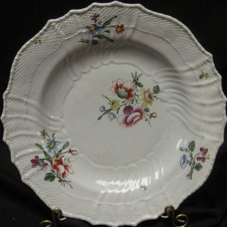 Antique 18th Cen Italian Porcelain Plate Attr.  To Doccia / Ginori photo