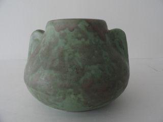 Green Glazed Stoneware Vase photo